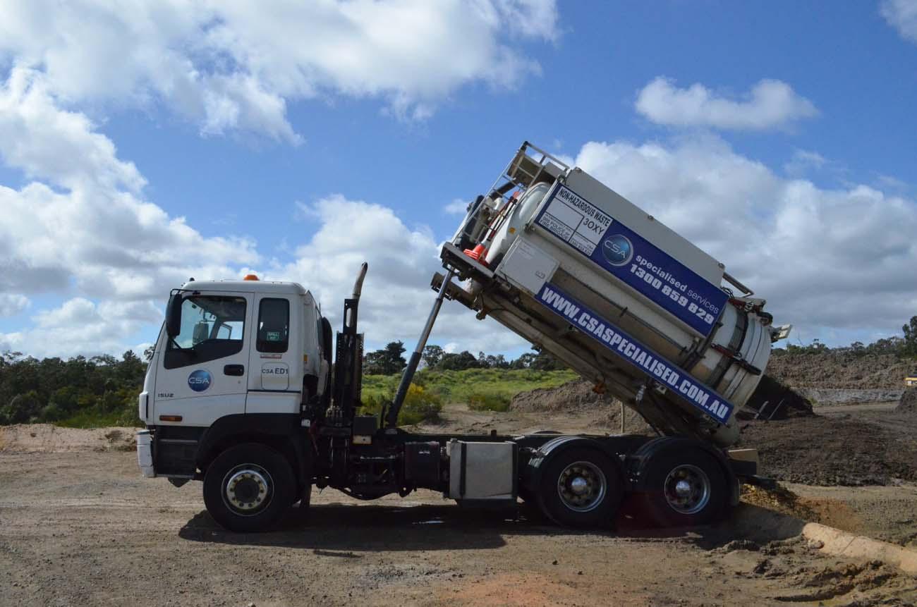 Eductor Vacuum Truck - CSA Specialised Services Fleet