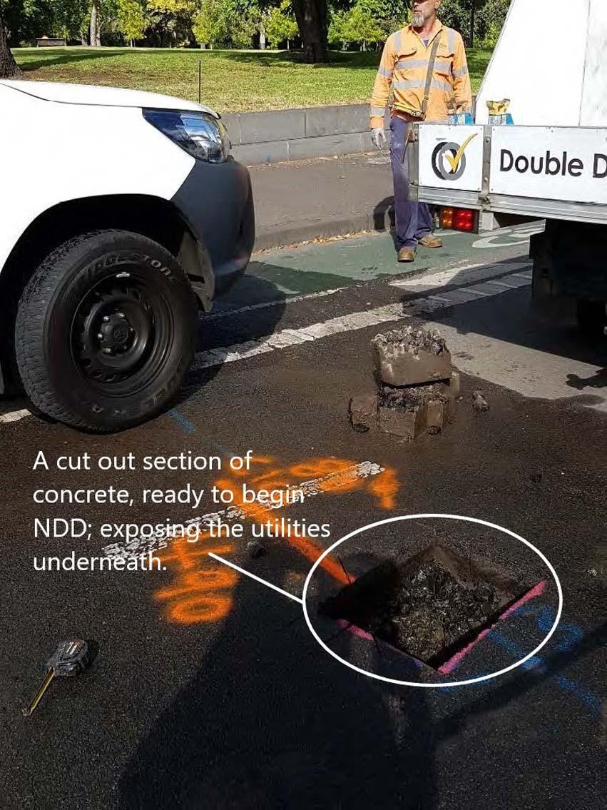 non-destructive digging in Albert street