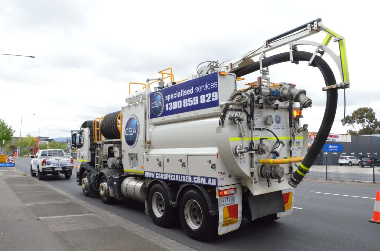 CSA fleet - heavy vacuum truck back