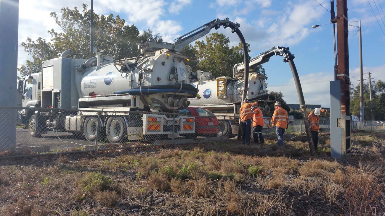 Hydro excavation in Fitzroy north